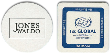 4 inch 60 point custom-imprinted coasters
