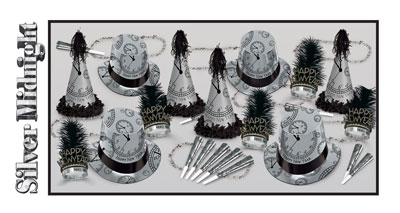 New Year's Eve The Silver Midnight Assortment Decorating Kit