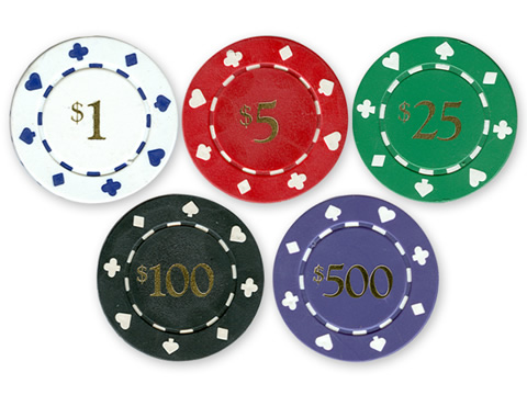 11.5 Gram Card Suits Value Poker Chips