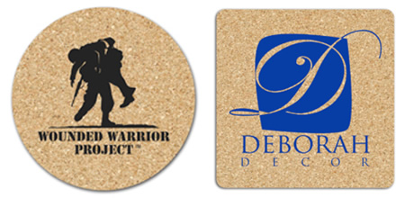 "3.5"" and 4"" Cork Coasters"