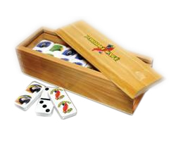 Custom Printed Domino Sets in wood Box