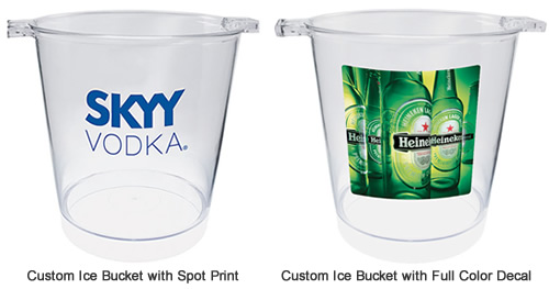 Custom Imprinted Party Buckets