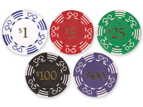 11.5 Gram Dice Value Poker Chips