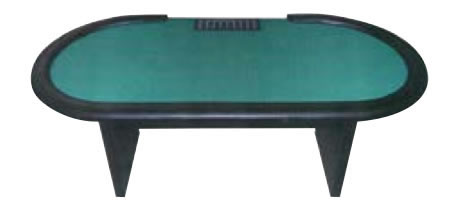 Stud Poker Tables with Slab Wooden Legs