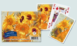 Van Gogh Sunflowers Playing Cards