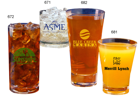 Custom Imprinted Tumbler Glasses