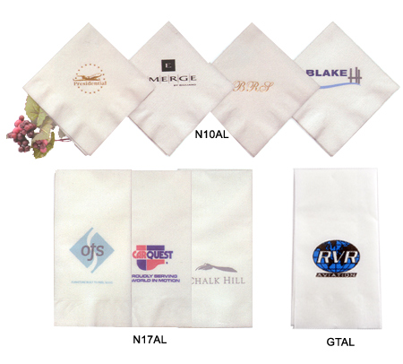 Custom-Imprinted Almost Linen Dinner Napkins