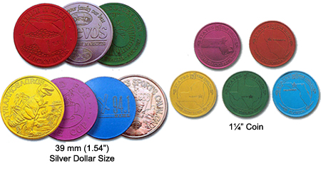 Anodized Aluminum Coins and Tokens