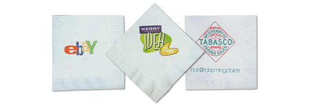 Custom-Imprinted Beverage Napkins with Any Design You Choose