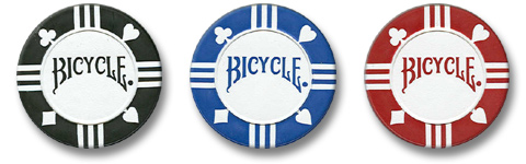 100% Clay Bicycle Poker Chips