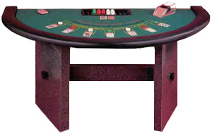 Casino Style Blackjack Table with H Style or Formica Legs and Padded Rail