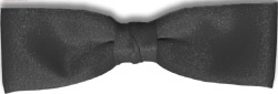 Black Clip-On Dealer Bow Tie