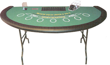 Folding Blackjack Table BJ57337
