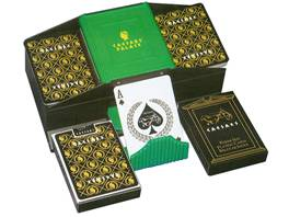Caesars Palace Two-Deck Poker Card Set with Case