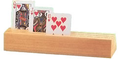 3-slot Wood Card Holder/Rack