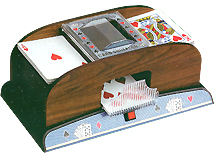 Wood Grain Card Shuffler