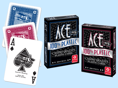 Ace 100% Plastic Playing Cards