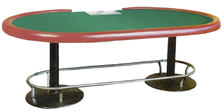 Classic Stationary Stud Poker Table