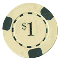 3 Edge Pre Denominated Casino Chip