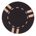6 Stripe Custom Casino Chip
