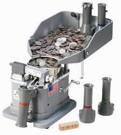 coin sorting machine locations
