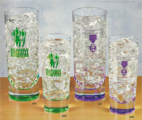 Custom Imprinted Color Accent Tumblers