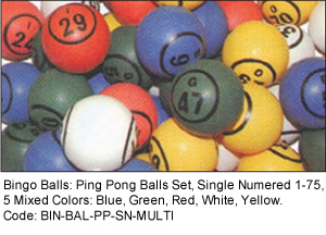 Color Bingo Balls