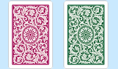 Copag 1546 Plastic Playing Cards Burgundy/Green