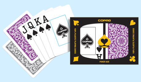 Copag 1546 Elite Plastic Playing Cards, Gray and Purple