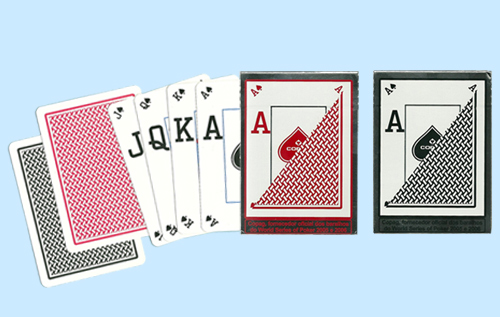 Copag Texas Holdem Cards, Black and Red Poker Peeks