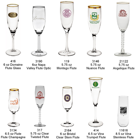Custom Imprinted Champagne Glasses