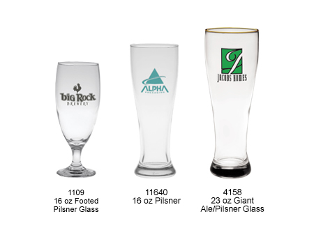 Custom Printed Pilsner Glasses