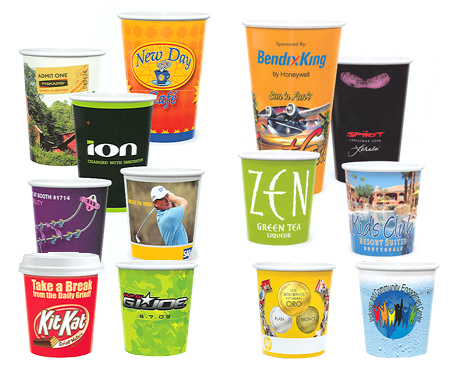 Custom-Imprinted Full Color Paper Cups with Any Design You Choose