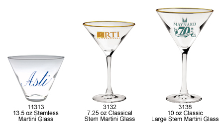 Custom Imprinted Martini Glasses