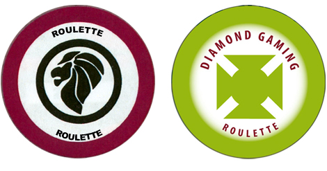Custom Roulette Casino Chips and Edge Spots