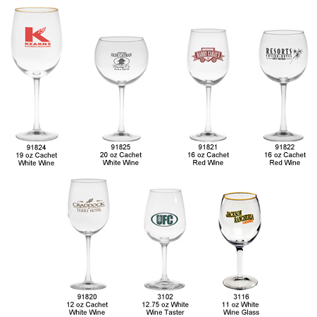 Custom Imprinted Wine Glasses