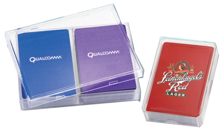 Custom Playing Cards in Clear Acrylic Box