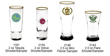 Custom Imprinted Sports Bottom Pint Glasses