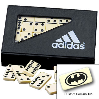 Custom Printed Domino in Vinyl Case Sets