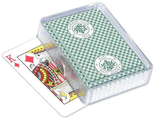 Single Deck Plastic Poker Card Box