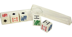 Poker Dice Set in Plastic Box
