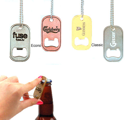 Custom Dog Tag Bottle Openers