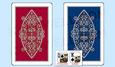 Gemaco Filigree Plastic Playing Cards with White Border