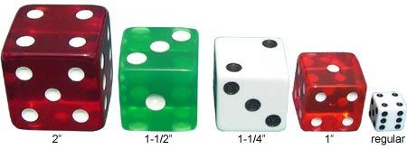 Jumbo Dice in Different Sizes
