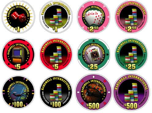 Kardwell Professional Ceramic Casino Quality Poker Chips, 39mm