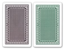 Kem Alpha Playing Cards (Green/Brown)