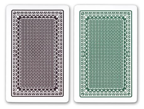 Kem Casino Plastic Playing Cards in Green and Brown