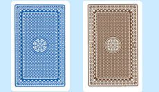 Kem Casino Club Back Playing Cards Blue and Brown