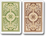 Kem Playing Cards Arrow Green Brown