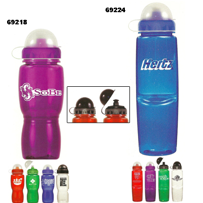 Custom Water Bottles with Dome Lid
